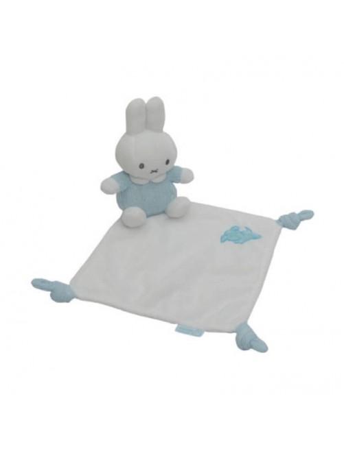 Dou Dou Miffy Azul mantita doudou bebe recien nacido puericultura estimulos