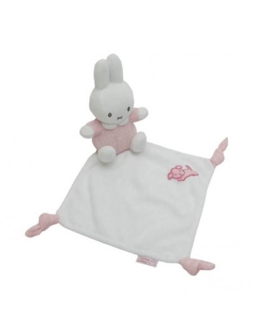 Dou Dou Miffy Rosa mantita doudou bebe recien nacido puericultura estimulos