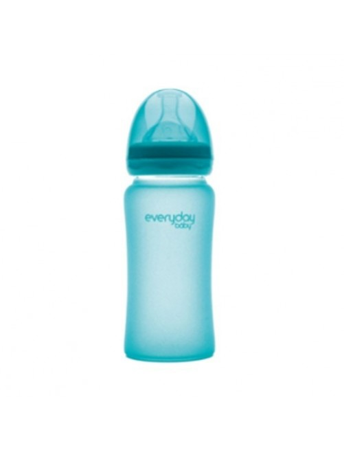Biberón Cristal Milkhero Azul 240ml Everyday Baby Bebe puericultura zaragoza