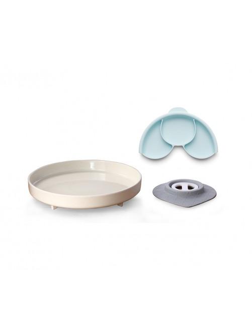 Plato con Separador y Ventosa Natural Miniware Puericultura zaragoza comidabebe bebe accesoriosbebe