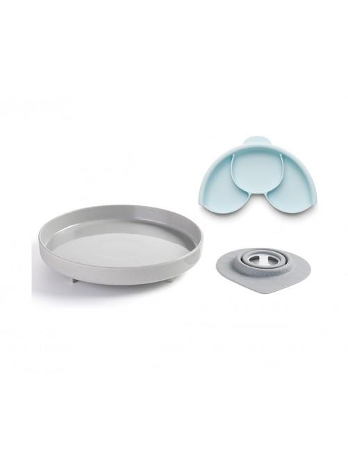 Plato con Separador y Ventosa Nordic Miniware  Puericultura zaragoza comidabebe bebe accesoriosbebe