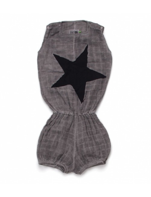 Mono Nununu Star Patch Muslin Yoga Overall Grey