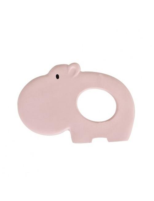 mordedor-caucho-natural-hipopotamo-tikiri-rosa-accesorios-denticion-bebes-Puericultura-tienda-online-zaragoza