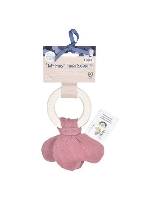 mordedor-de-caucho-natural-tikiri-rosa-red-Front-accesorios-denticion-bebes-Puericultura-tienda-online-zaragoza