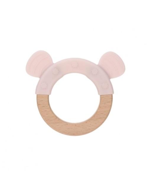 Mordedor-Lassig-Teether-Silicona-wood- Little-Chums-Mouse-Rosa-Bebe-Accesorios-Denticion-Tienda-Online-Zaragoza-Puericultura