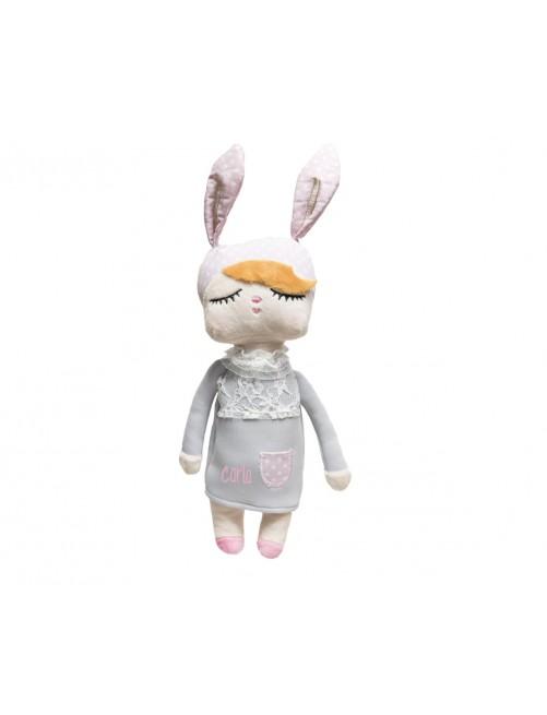 Muñeca Miniroom Gris 30cm adorable  peluche bebe niña zaragoza regalo
