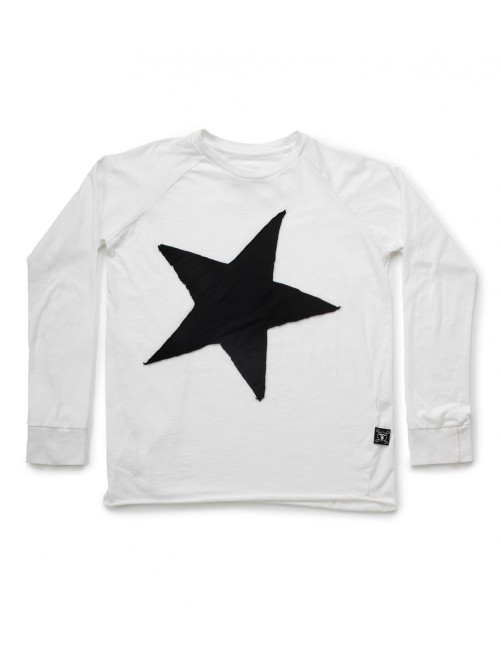 Camiseta Star Patch T-shirt White Nununu  Moda infantil alternativa zaragoza