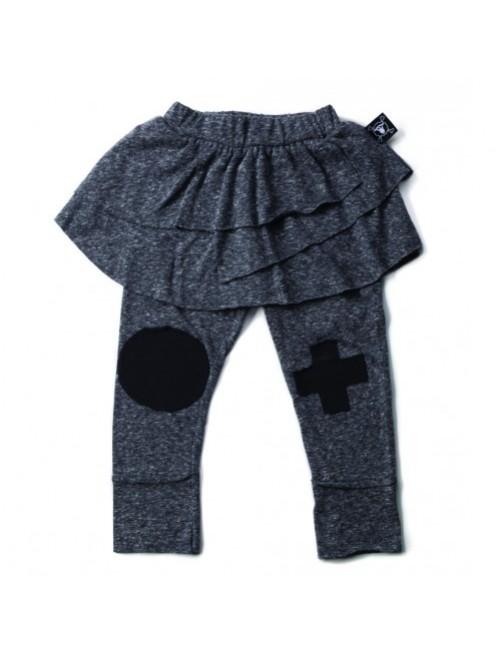 Leggings con Falda Nununu Patch Gris moda-infantil-alternativa-moderna-comoda-original-divertida-niña