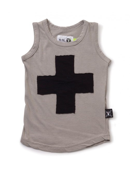 Camiseta Nununu Plus Patch Tank Top Light Grey