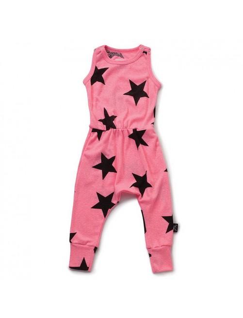 Mono Nununu Star Romper Pink