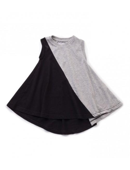 Vestido Nununu Half & Half 360 Tank Dresh Grey