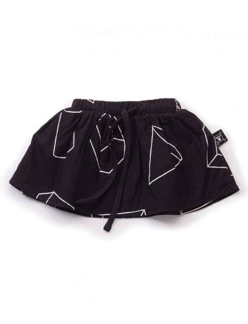 Falda Nununu Geometric Skirt Black