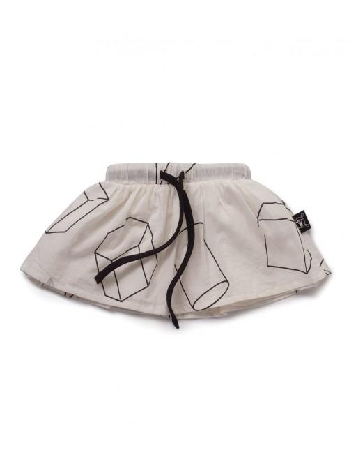 Falda Nununu Geometric Skirt White