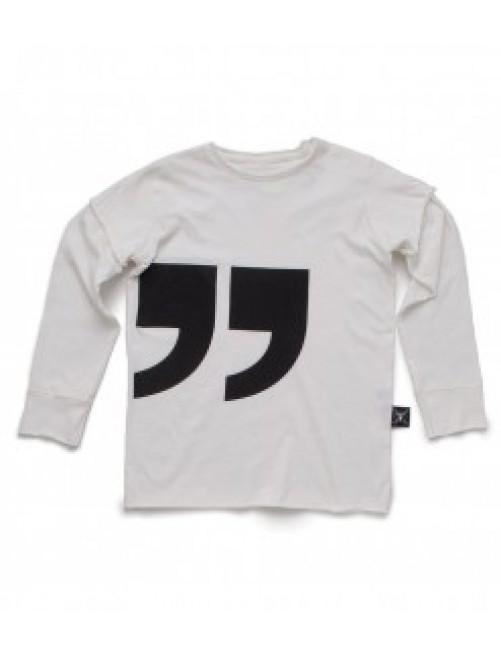 Camiseta Manga Larga Nununu Quotation White