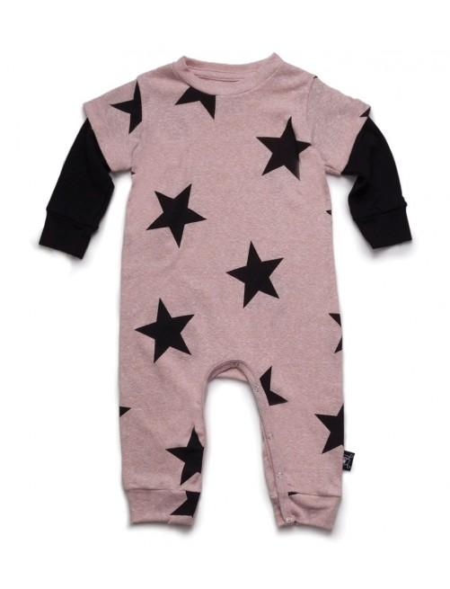 Mono Nununu Star Playsuit Powder Pink