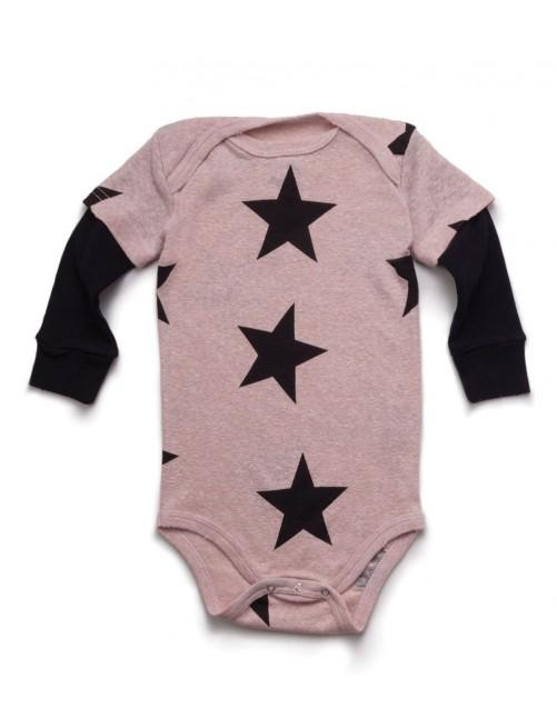 Body Nununu Star Onesie Powder Pink