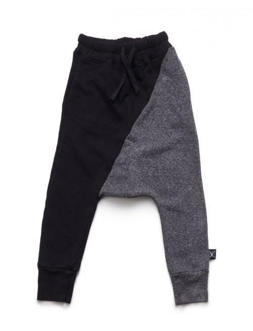 Pantalón Nununu Half & Half Baggy Pants Black & Charcoal