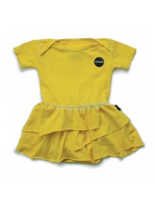 Vestido Body Nununu Dyed Onesie Skirt Yellow