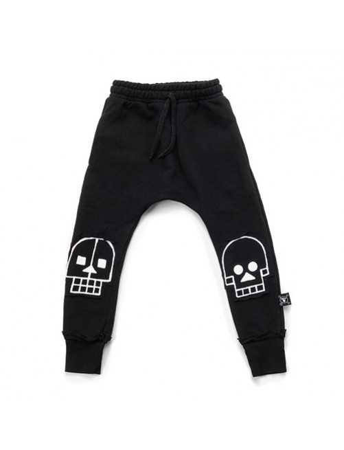 Pantalón Nununu Skull Robot Patch Baggy Black moda infantil alternativa zaragoza tienda online