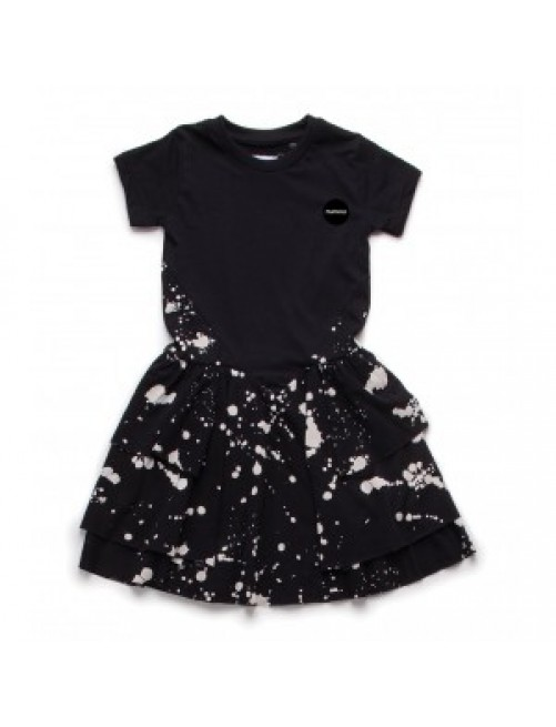 Vestido Nununu Splash Layered Black