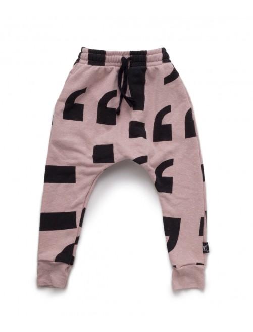 Pantalón Nununu Punctuation Baggy Pants Powder Pink