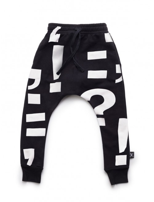 Pantalón Nununu Punctuation Baggy Pants Black