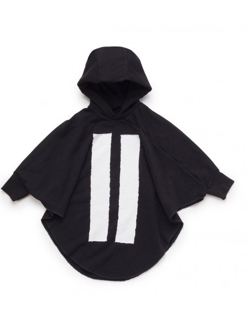 Sudadera Nununu Hooded Bat Top Black