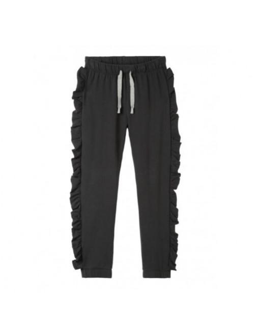 Pantalon Oversized Jogger Ruffles 10Days Charcoal moda infantil zaragoza modacasual alternativa tienda moda infantil  zaragoza