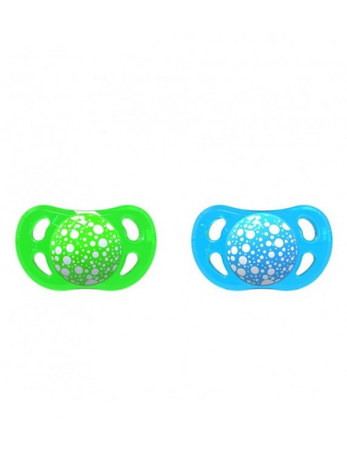 2 Chupetes Twistshake Azul-Verde 0-6m
