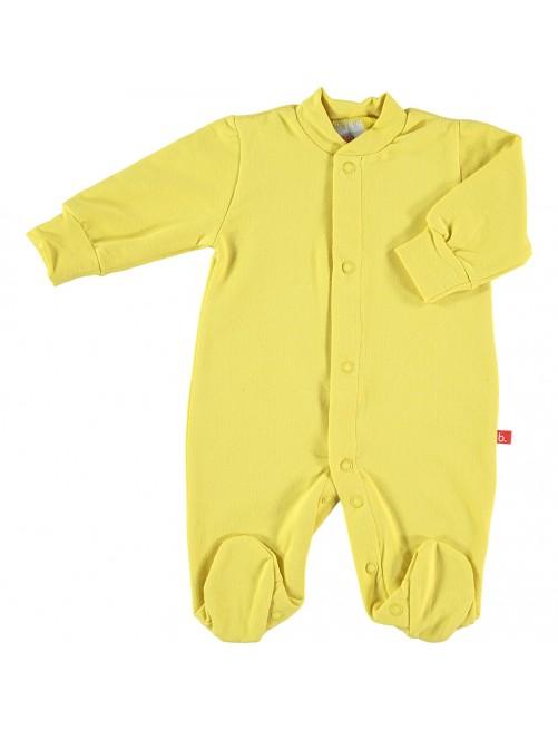 Pijama Limobasics cierre frontal Mostaza