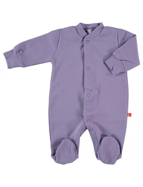 Pijama Limobasics cierre frontal Lila
