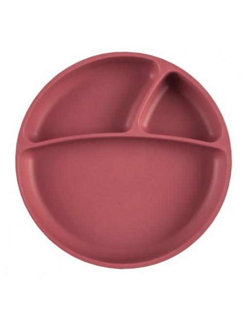 Plato-Portions-Rosado-Scarlet-Ventosa-Silicona-Aprendizaje-Minikoioi-bebe-accesorios-bebe-Blw-tienda-online-zaragoza-puericultura