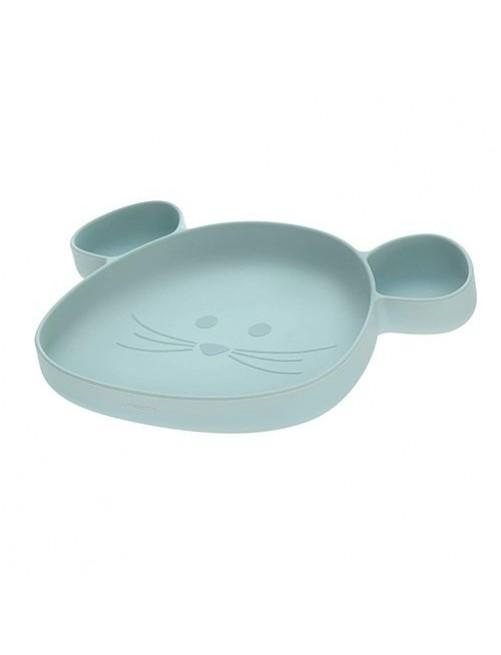 Plato-silicona-infantil-placemate-lassig-little-chums-mouse-azul-ventosa-accesorios-comida-comer-bebes-puericultura-tienda-online-zaragoza