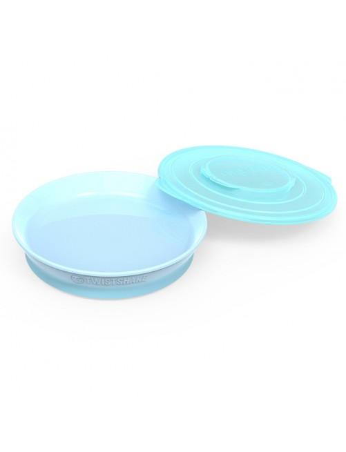 Plato Twistshake  6+ Azul Pastel Puericultura Zaragoza Bebe Comida Blw