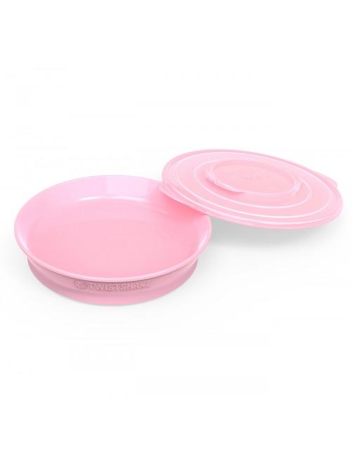 Plato Twistshake  6+ Rosa Pastel Puericultura Zaragoza Bebe Comida Blw