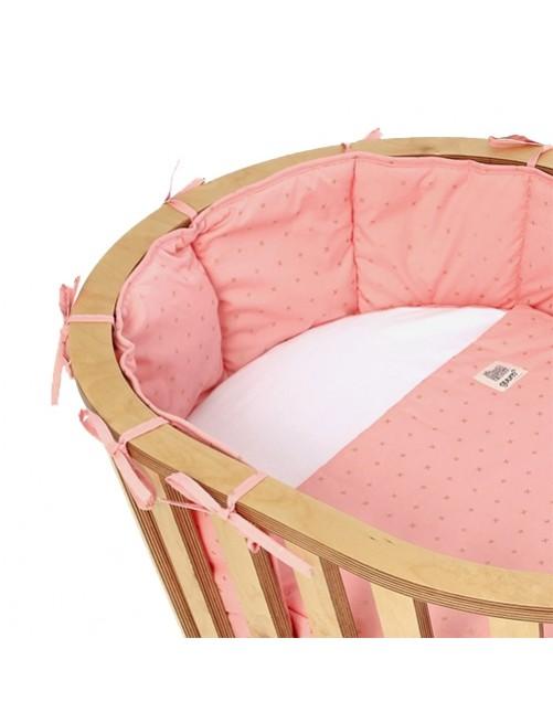Protector Plus Rosa Minicuna Guum Barcelona bebe minimalista detalle lazo