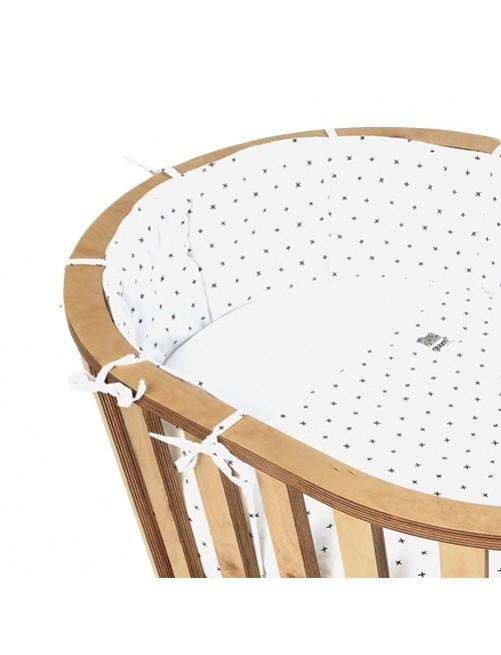 Protector Plus Blanco Minicuna Guum Barcelona bebe minimalista detalle lazo
