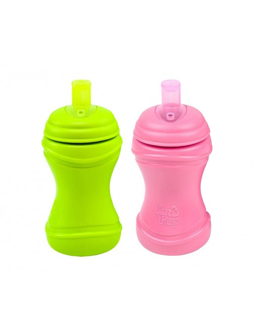 Pack 2 Botellas Antiderrame Replay Verde Lima/Fucsia