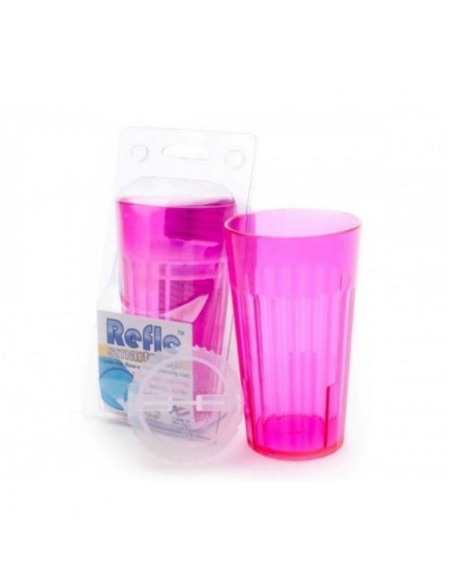 Vaso Reflo Smart Cup Fucsia antiderrame niños puericultura zaragoza beber solitos plastico