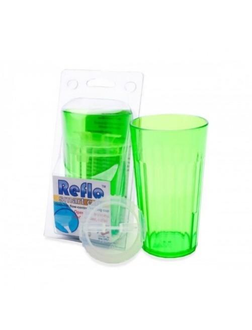 Vaso Reflo Smart Cup Verde antiderrame niños puericultura zaragoza beber solitos plastico