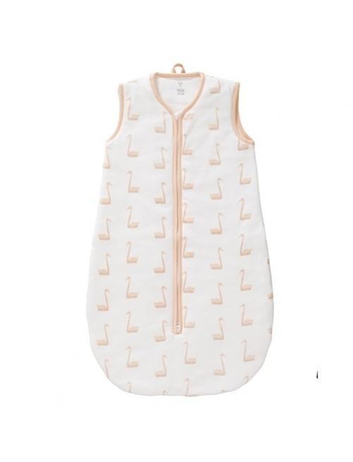 Saco-de-dormir-de-algodón-orgánico-Fresk-modelo-Cisne-melocotón-pálido-bebe-tienda-online-zaragoza-puericultura