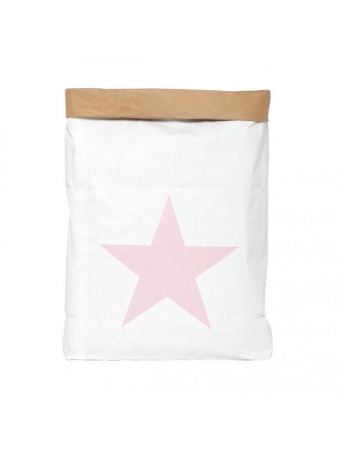 Saco Organizador Mini Be-Nized Bags Estrella Rosa Juguetes habitación Niños