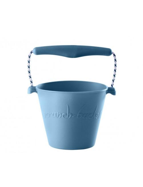 Cubo Silicona Scrunch Azul  verano niños juguete playa plegable silicona Zaragoza tienda online