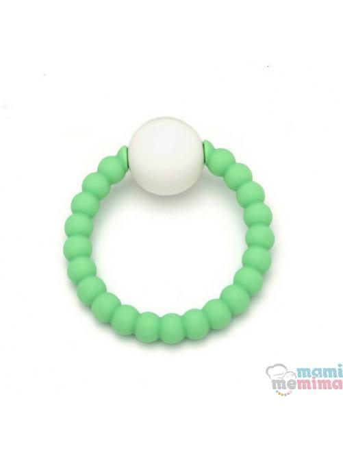 Sonajero Mordedor Green&White Mami Me Mima bebe 2en1