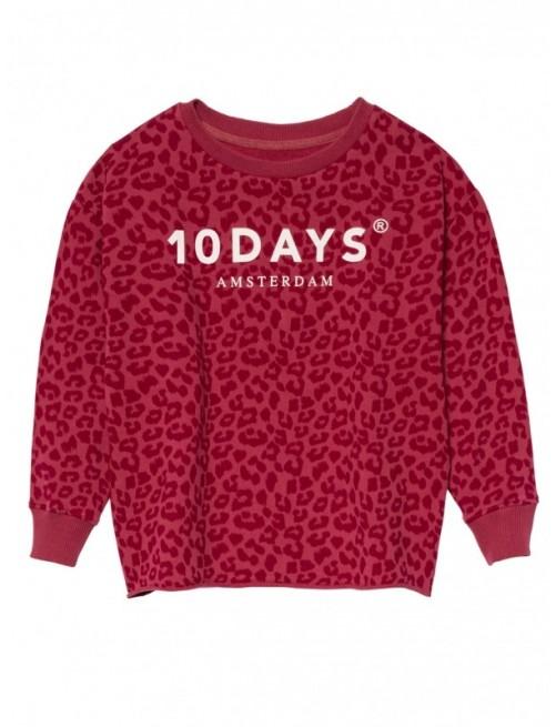 Sudadera 10Days Sweater Leopard Maroon Moda Infantil Urbana Casual Zaragoza Tienda Online Niños