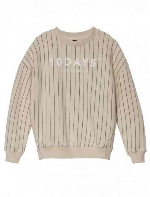 Sudadera 10Days Sweater Pinstripe Bone Moda Infantil Urbana Casual Zaragoza Tienda Online Niños