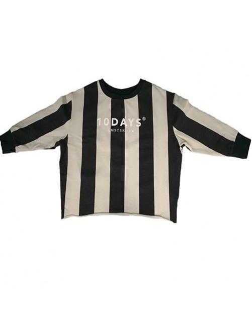 Sudadera Big Stripe 10Days moda infantil zaragoza modacasual alternativa tienda moda infantil  zaragoza