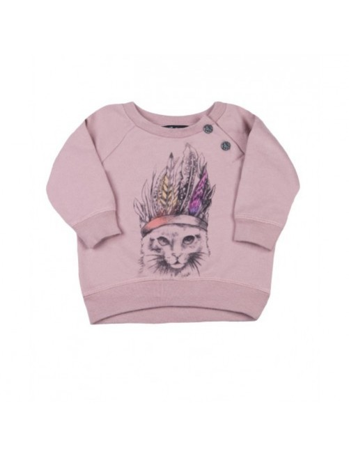 Sudadera I Talk Too Much Janis Cats moda-infantil-diferente-alternativa-divertida-comoda-original niña bebe