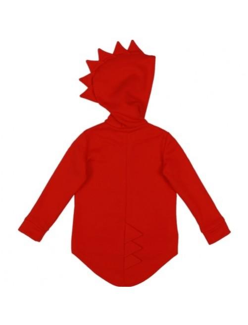 Sudadera_Kukukid_Dino_ Dinosaurio_Cresta_Red_Hoodie_Niños_Moda_Infantil_Urbana_Alternativa_Tienda_Online_Zaragoza-hoodie-cotton-Ropa