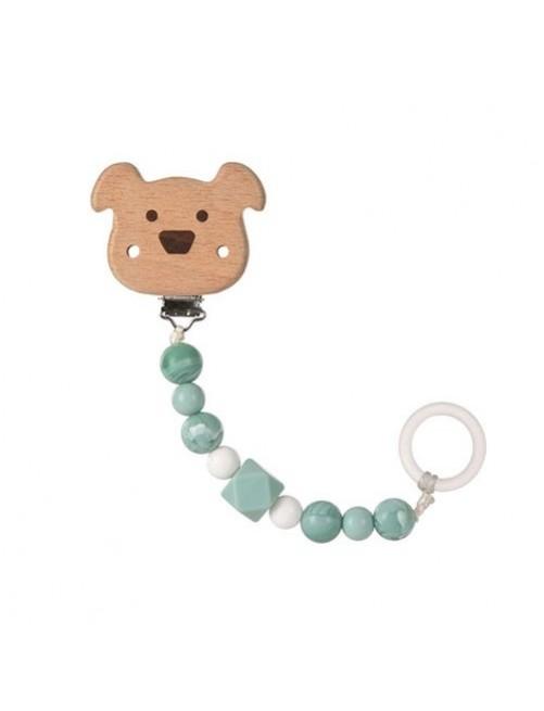 sujetachupetes-silicona-madera-dog-azul-lassig-olmitos-bebe-accesorios-puericultura-tienda-online-zaragoza
